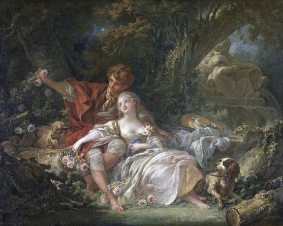 François Boucher (1703-1770) - Pastorale - Huile sur toile, 64,5 x 81 cm - Karlsruhe, Staatliche Kunsthalle  © Staatliche Kunsthalle Karlsruhe