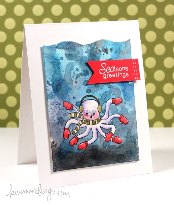 Card by kristina werner for her holiday card series 2013 day 25 uses seasons