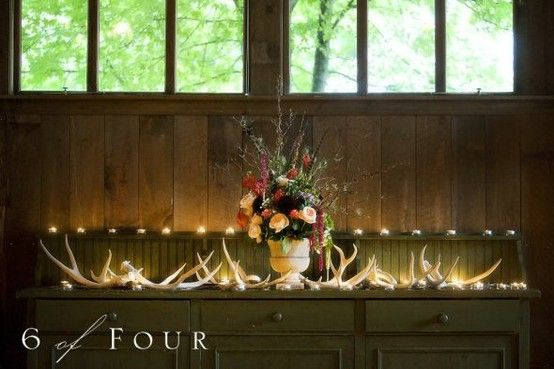 Camouflage Wedding Reception TableAntlers Decor, Camouflage Wedding, Receptions Tables, Wedding Day, Decor Inspiration, Receptions Ideas, Wedding Pin, Grooms Tables, Wedding Reception