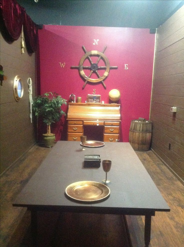 This is how we set up our pirate room. Check it out in Antelope Valley's first live escape room. Book online at www.twistedexit.com.