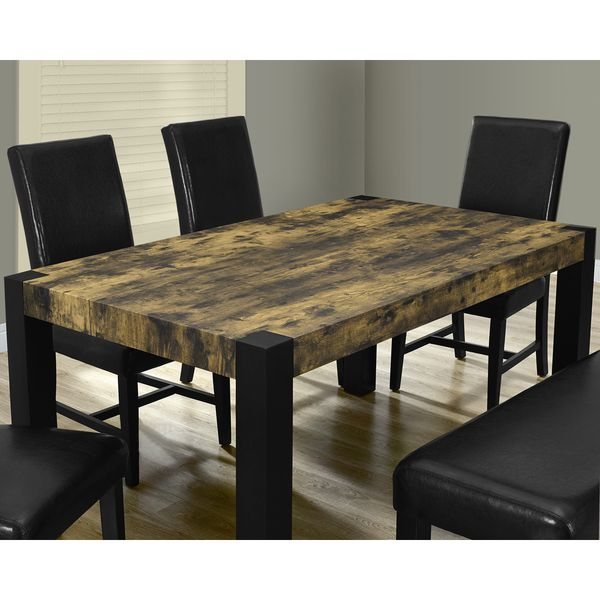 Distressed Reclaimed-look Black Dining Table