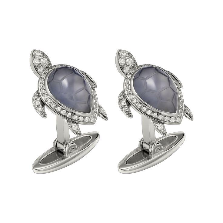 Cartier. diamond turtle cuff links...♡