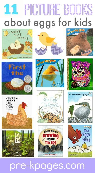 Books about Eggs for #preschool and #kindergarten