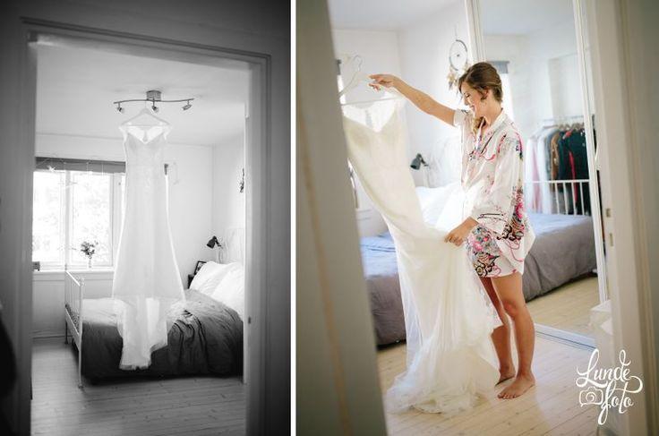 Bride and her wedding dress <3