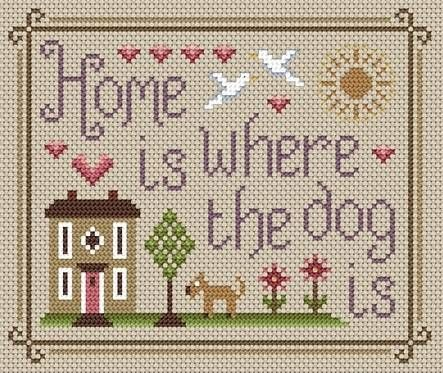 Home Is Where The Dog Is Cross Stitch Kit from Little Dove Designs from £18.75