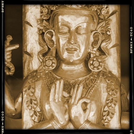 Photo taken of the Tibetan Peace Pagoda, Southbank Brisbane