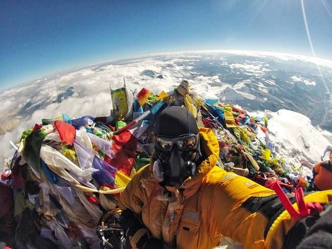 This May Be A Collection Of The Best Selfies From All Time. Each Is Golden.  18.) On Top of Mount Everest