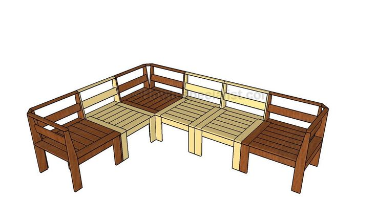 Outdoor sectional plans – HowToSpecialist – How to Build, Step by Step DIY Plans