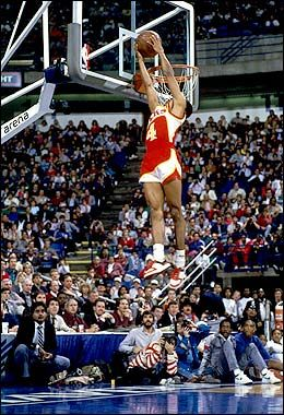 "Spud Webb - 5'6""... there's no excuse if you can't dunk!"