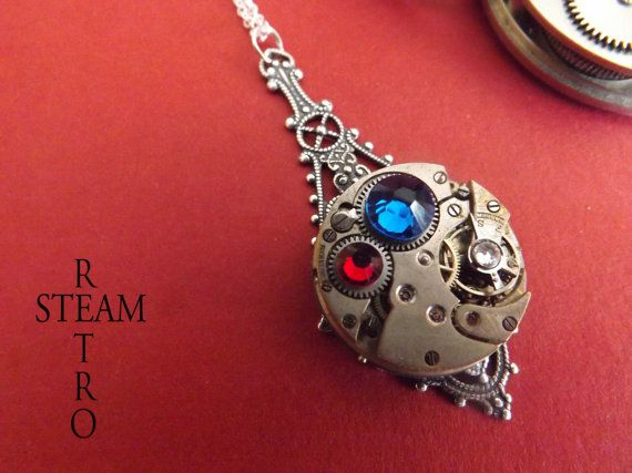 The Pax Britannica service medallion Steampunk Necklace - Steampunk Jewelry - Steampunk Jewellery by Steamretro