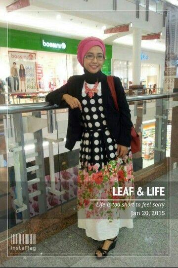 Polka & Flowery hijab style