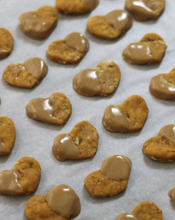 Natural Dog Treat Recipe: Frosted Peanut Butter, Sweet Potato & Oats |