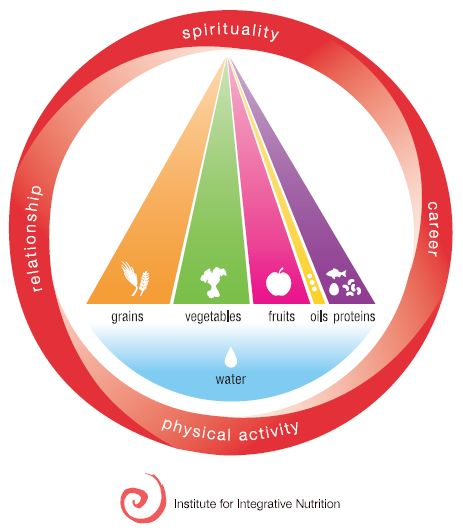 Primary foods (the red wheel) and Secondary foods (the inner triangle). IIN's outlook on health and wellness. So excited to be studying to be a Health Coach.