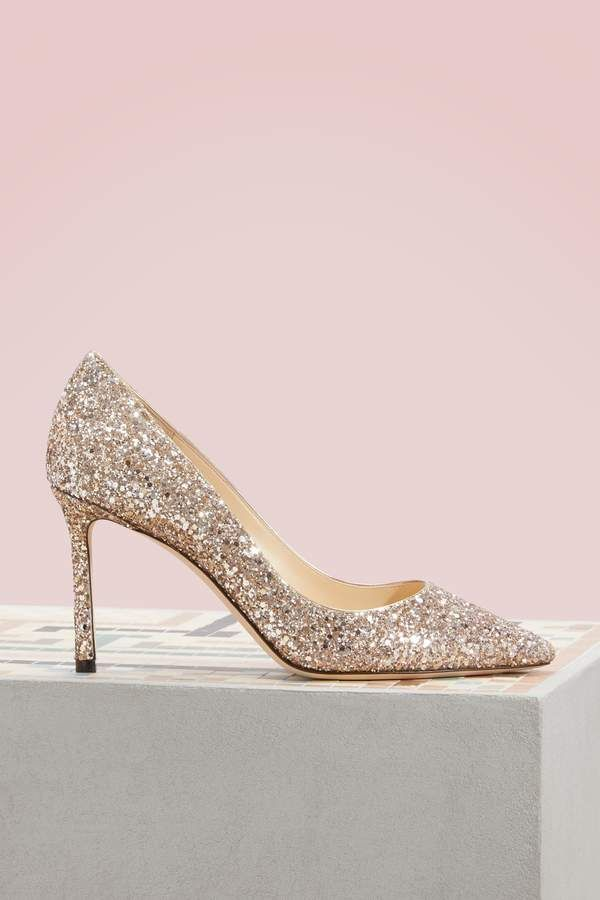 06e15980982 Jimmy Choo Romy 85 pumps - ballet pink sparkle pumps