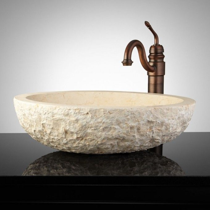 chiseled marble vessel sink vessel sinks bathroom sinks bathroom