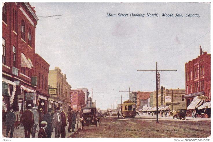 MOOSE JAW, Saskatchewan, Canada; Main Street (looking North) PU-1912