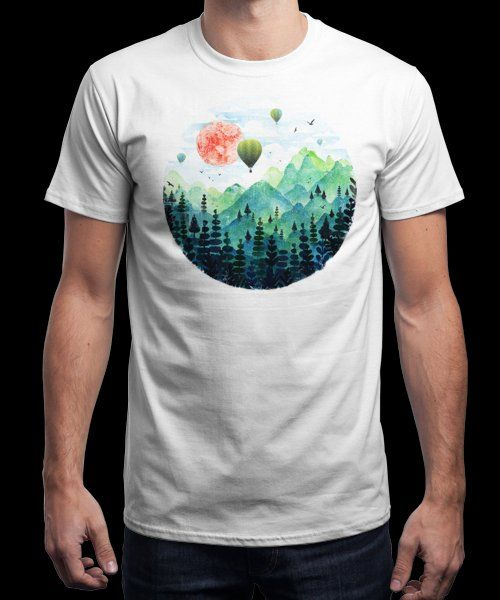 """Roundscape"" is today's £9/€11/$12 tee for 24 hours only on www.Qwertee.com Pin this for a chance to win a FREE TEE this weekend. Follow us on pinterest.com/qwertee for a second! Thanks:)"