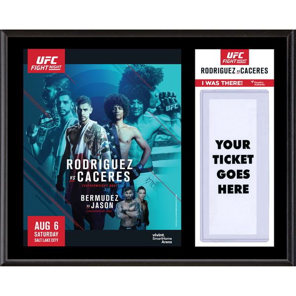 """Fanatics Authentic UFC Fight Night Yair Rodriguez vs. Alex Caceres Dueling """"I Was There"""" 12"""" x 15"""" Sublimated Plaque - $39.99"""