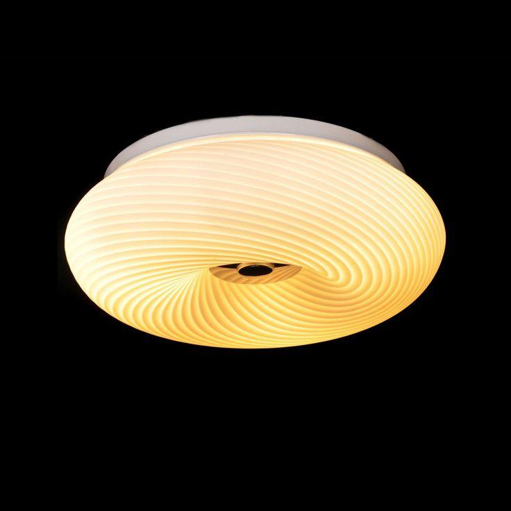 Plafon LAMPA sufitowa MONARTE LDC 532-330 Lumina Deco okrągła OPRAWA szklana wzorki biały