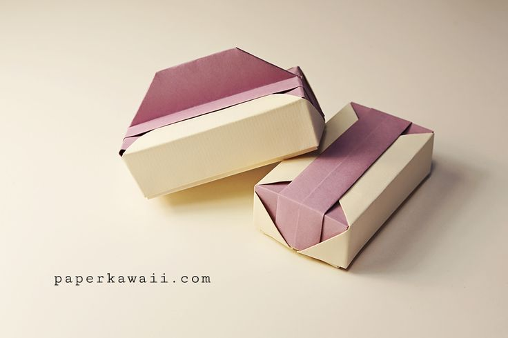 Watch this origami gift box tutorial video to learn how to make a beautiful box with 2 lid variations. A pretty origami box perfect as a gift box.