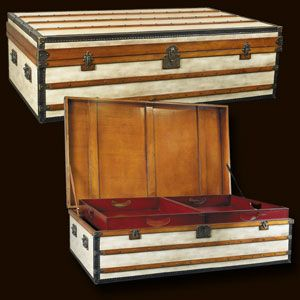 Polo Club Trunk, Large  Ideal as coffee tables, combining storage with functionality and design! Every trunk carries two sliding trays painted in signal-red. Roomy and strong, heirlooms for generations to come.  Price £2,095.00