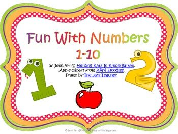 """This is a little freebie that I created to go along with the book """"Chicka Chicka 123"""" or really just to start off the year with my kinders. It's good practice with counting and ten frames. I plan to use it as a pocket chart activity. I hope you enjoy it!"""
