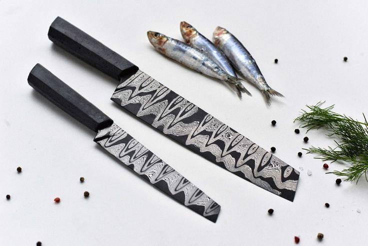 Kuchyňské nože s betonovou rukojetí Gravelli a Anton Vadovič Echtkovar