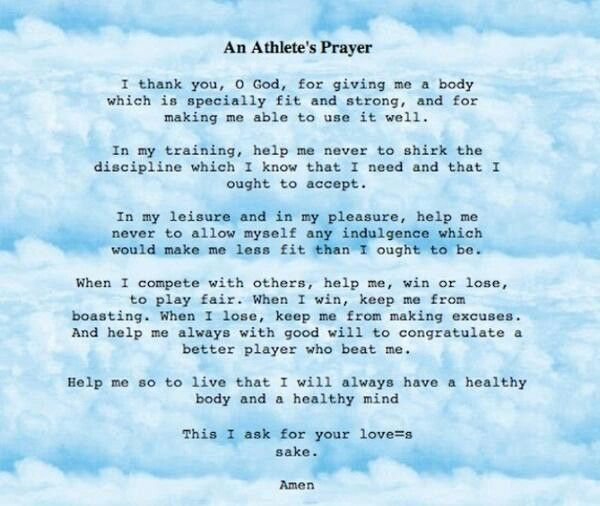Athletic prayer said before EVERY sporting event