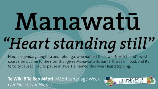 Maori is a beautiful language and is one of NZ's three official languages alongside English and sign language. See these translations of place names in Palmerston North City & Manawatu.