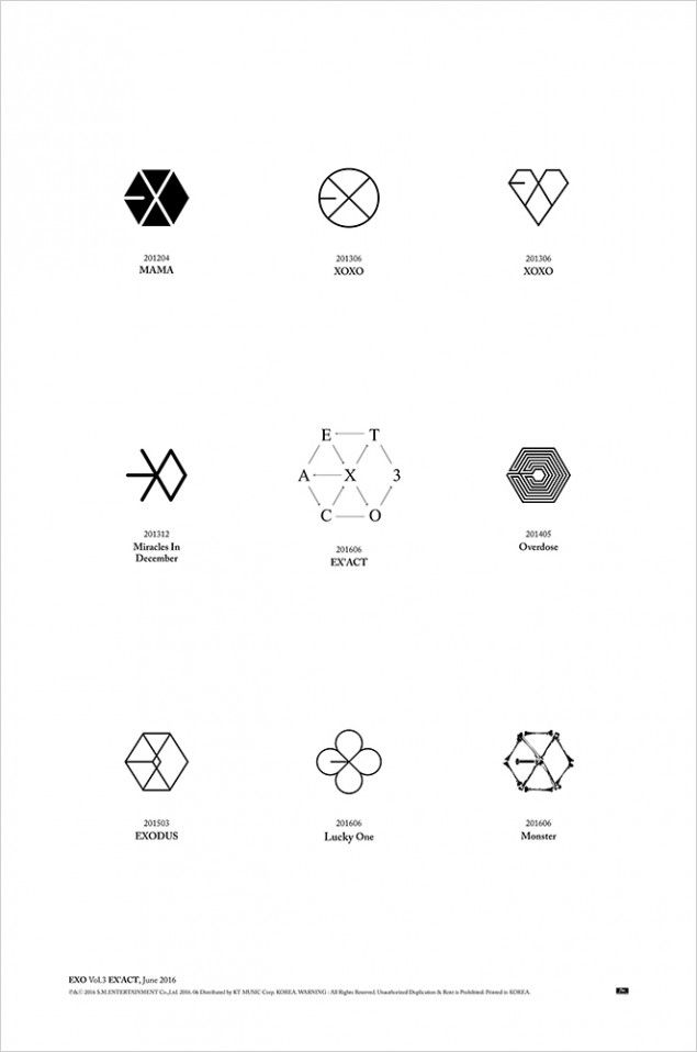 EXO lay out logo history for 'EXACT' teaser | allkpop.com