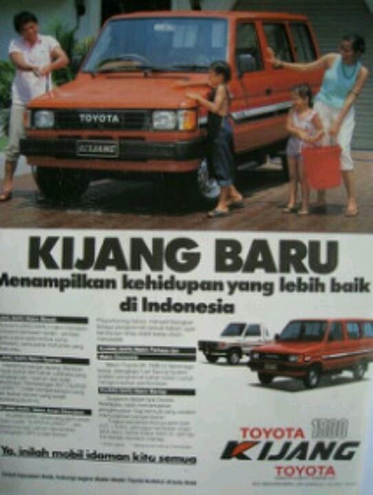 Vintage adv Toyota kijang indonesia