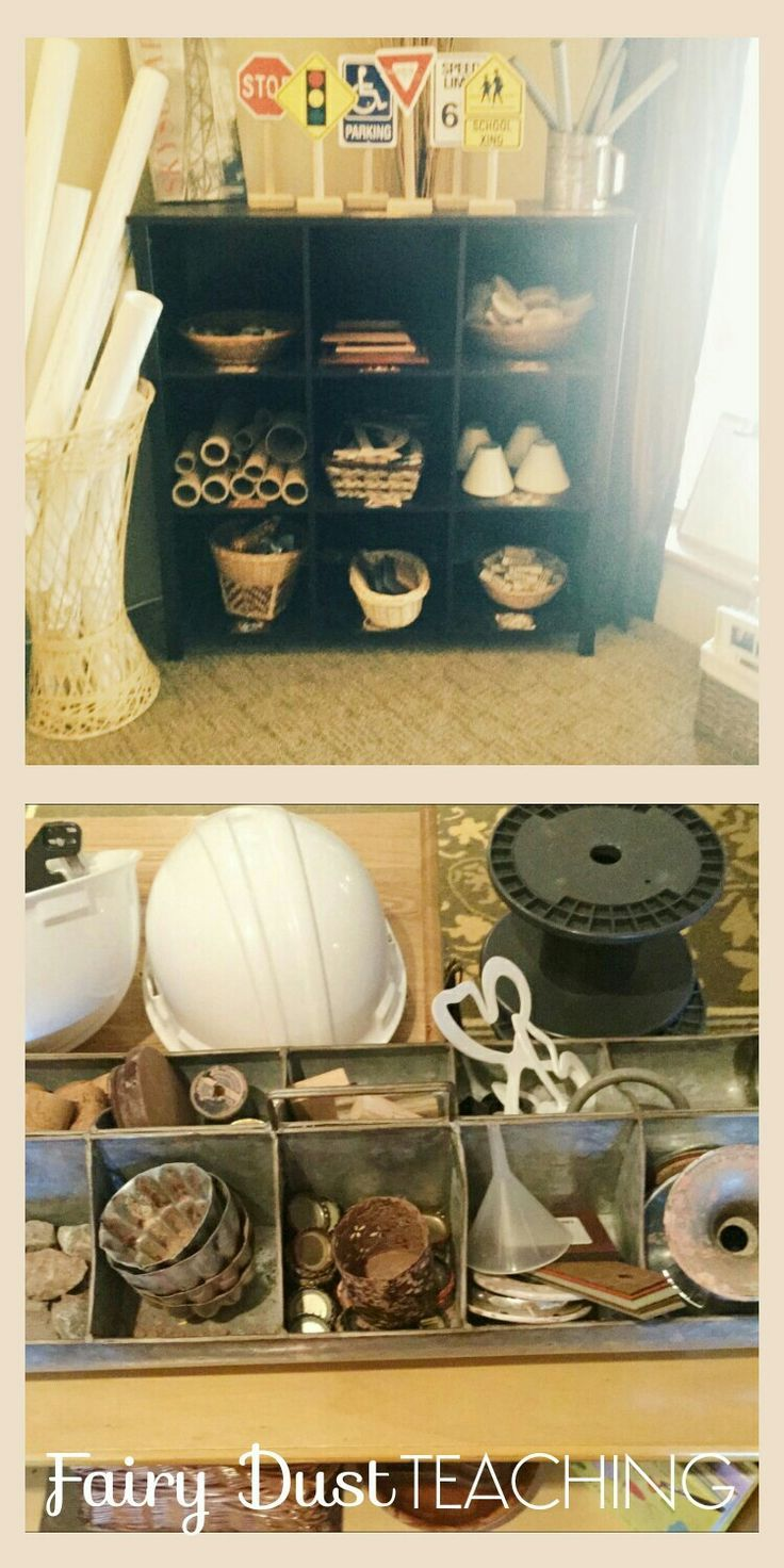 Great examples of how to use loose parts in construction! You can even snag a download of Fairy Dust Teaching's Loose Parts Master Checklist!