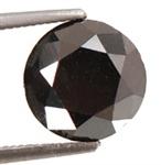 5.01 Ct Natural RBC Black Diamond Solitaire AAA