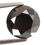 5.01 Ct Natural RBC Black Diamond Solitaire AAA