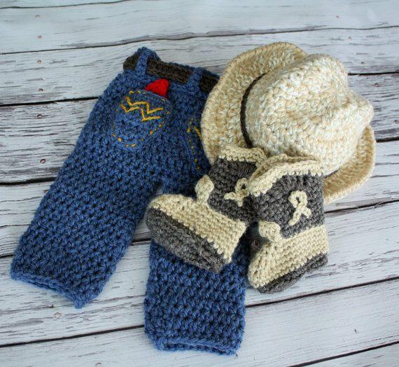 Cappello da Cowboy bambino pantaloni e stivali di JojosBootique