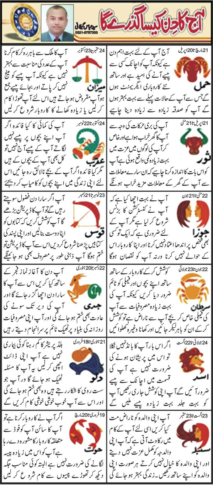 Horoscope in Urdu