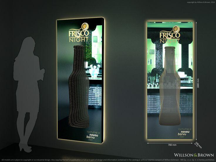 "Frisco mirror decoration, LED, premium solution, Frisco cider ""#"" Friscocider ""#""cider ""#""pointofsale"