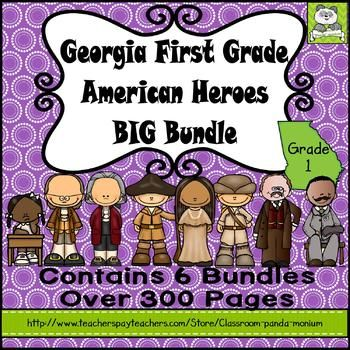 This bundle features everything you need to teach nonfiction units for the following people: Benjamin Franklin, Thomas Jefferson, Lewis, Clark, and Sacagawea, Ruby Bridges, Theodore Roosevelt, and George Washington Carver. This bundle contains 6 separate folders with over 300 pages of activities to teach these biographies.