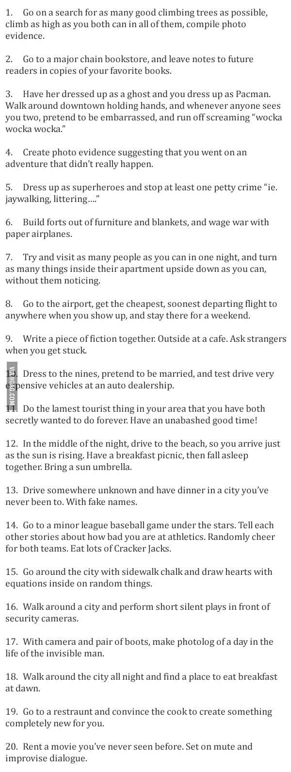Unusual (and fun!) Date Ideas