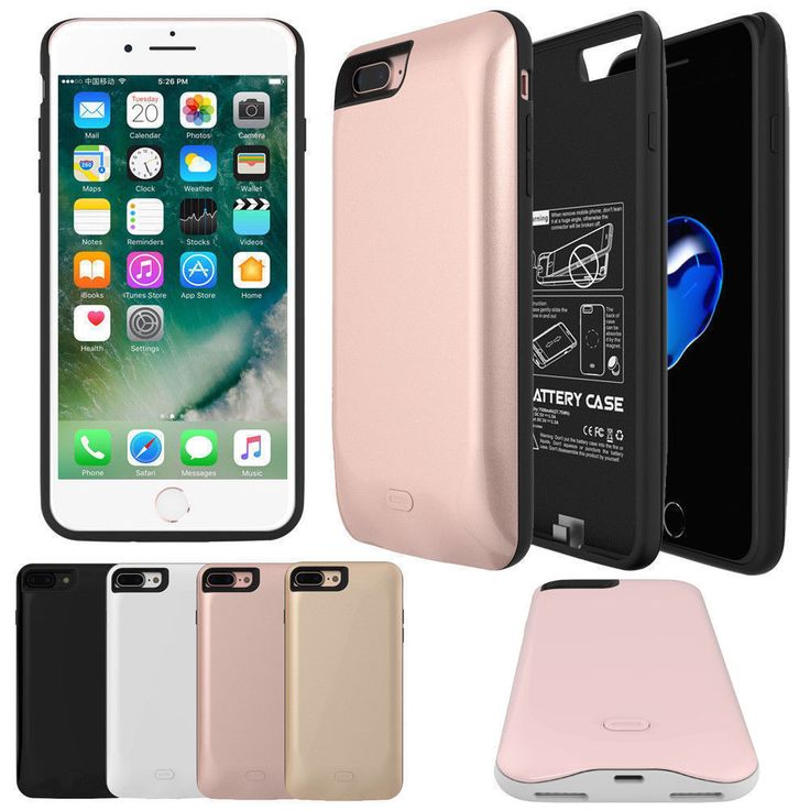 5200mAh/2600mAh Power Bank Charger Battery Case For iPhone 7 | iPhone 7 Accessories | Pinterest | Iphone, Iphone cases and Iphone 7