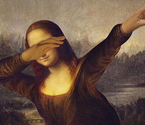 dab, monalisa, and art image
