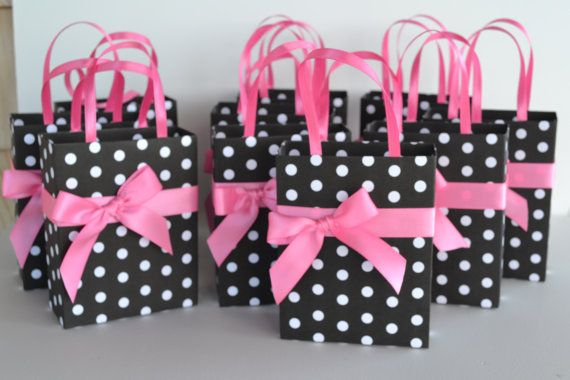 Pink and black and white polka dot party favor gift by steppnout, $2.50