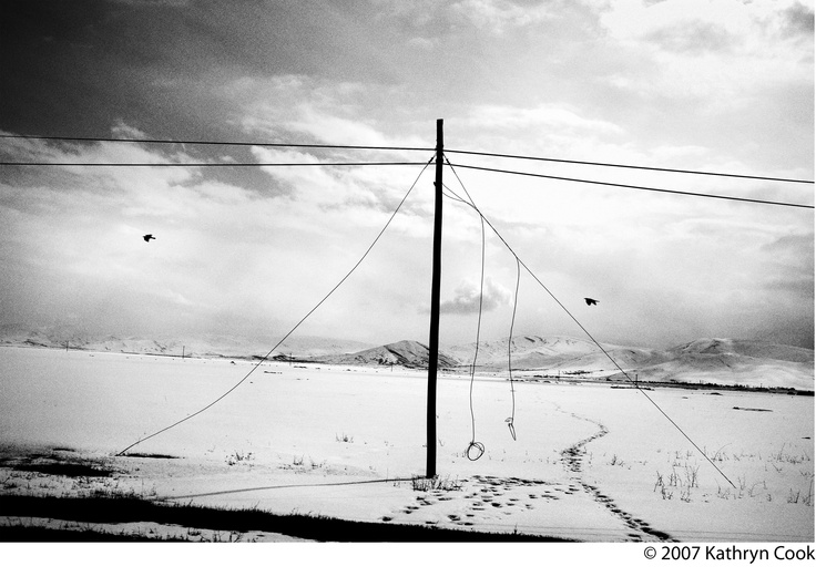 Snow blankets the countryside along a road between Van and Dogubayazit, Turkey, close to the border with present-day Armenia. Eastern Turkey is where the largest population of Turkey's Armenians had been living for centuries. After the deportation decrees were issued in 1915, almost all of the Armenian communities in the Lake Van area were wiped out.