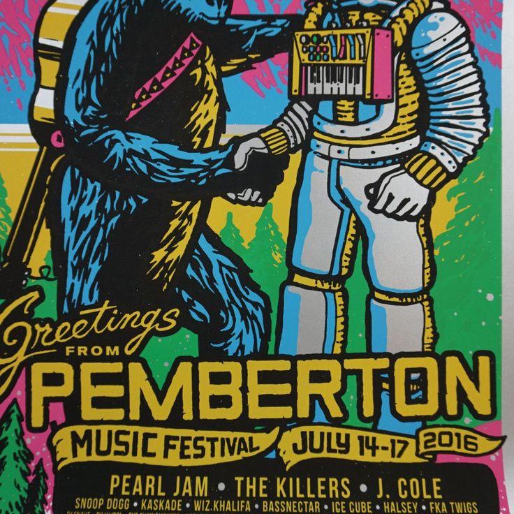 Pemberton Festival - 2016 Ames Brothers poster VARIANT Pearl Jam