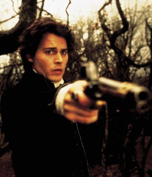 Johnny Depp as Ichabod Crane.