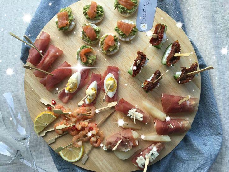 5 x feestelijk hapjes voor oud en nieuw. Lekker, gezond en makkelijk klaar te maken. Recept www.lekkeretenmetlinda.nl