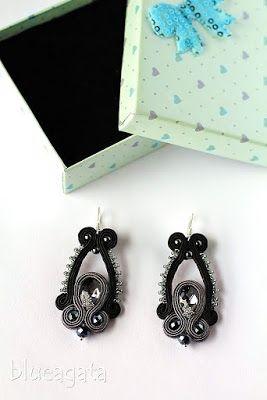 blueagata: Soutache earrings for little black dress