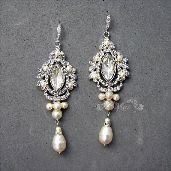 Bridal Chandelier Earrings WEdding Earrings by adriajewelry, $68.00