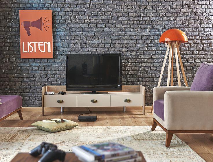TV ÜNİTESİ Yükseklik: 49,4 cm Genişlik: 180,5 cm Derinlik: 49,2 cm