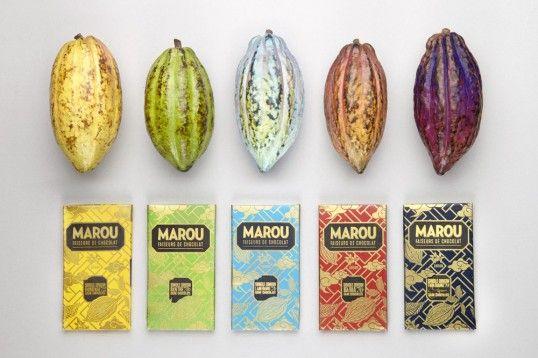 Marou chocolate packaging by Rice Creative